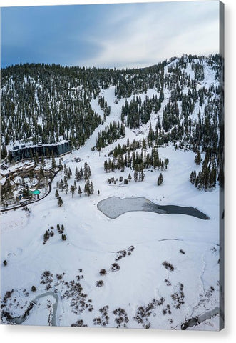 Squaw Valley Meadow Aerial - Acrylic Print by Brad Scott