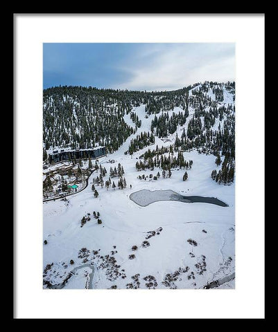 Squaw Valley Meadow Aerial - Framed Print by Brad Scott
