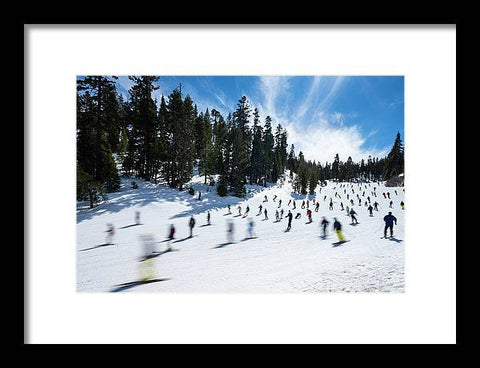 Stagecoach Chaos Heavenly Lake Tahoe - Framed Print