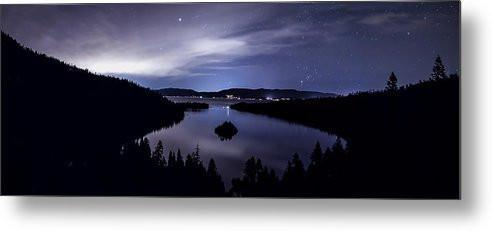 Star Lit Emerald Bay - Metal Print