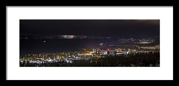 Storm Over The City - Framed Print