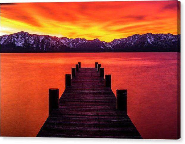 "Tahoe Ablaze By Brad Scott - Canvas Print-12.000"" x 8.000""-Lake Tahoe Prints"