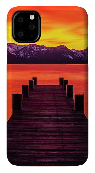 Tahoe Ablaze By Brad Scott - Phone Case