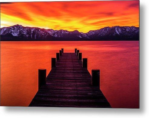 Tahoe Ablaze By Brad Scott - Metal Print-Metal Print-Lake Tahoe Prints