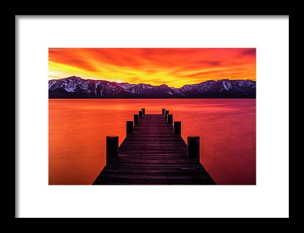 Tahoe Ablaze By Brad Scott - Framed Print