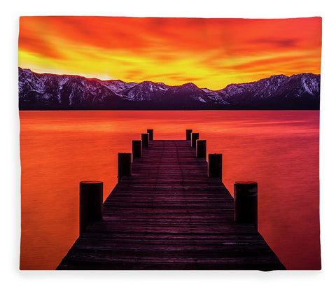 Tahoe Ablaze By Brad Scott - Blanket