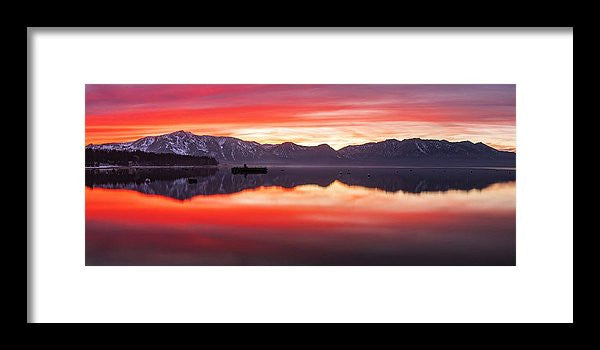 Tahoe Aglow by Brad Scott - Framed Print