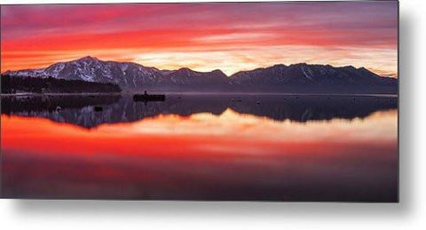 Tahoe Aglow by Brad Scott - Metal Print