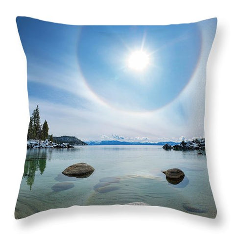 Tahoe Halo By Brad Scott - Throw Pillow-Lake Tahoe Prints