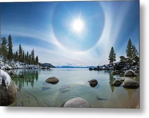 Tahoe Halo By Brad Scott -Metal Print -Lake Tahoe Prints