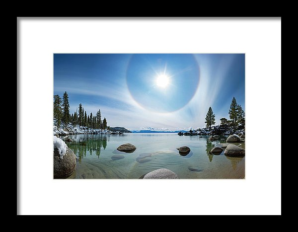 Tahoe Halo By Brad Scott - Framed Print