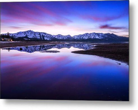 Tahoe Reflections - Lake Tahoe Ca - Metal Print