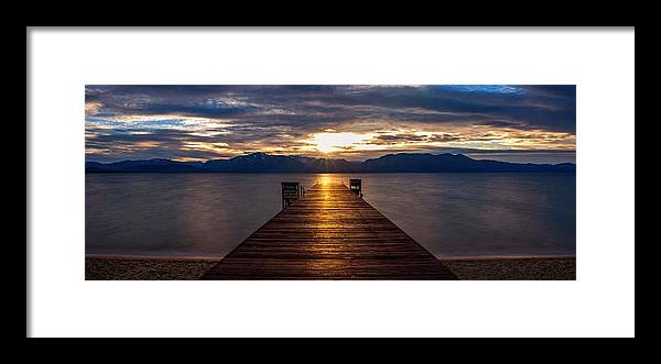 Tahoe Shine by Brad Scott - Framed Print