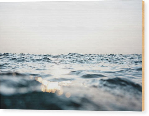Tahoe Smokey Waters - Wood Print
