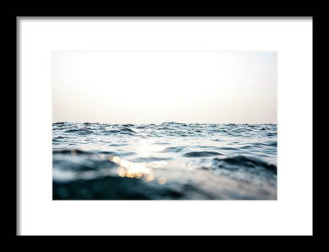 Tahoe Smokey Waters - Framed Print
