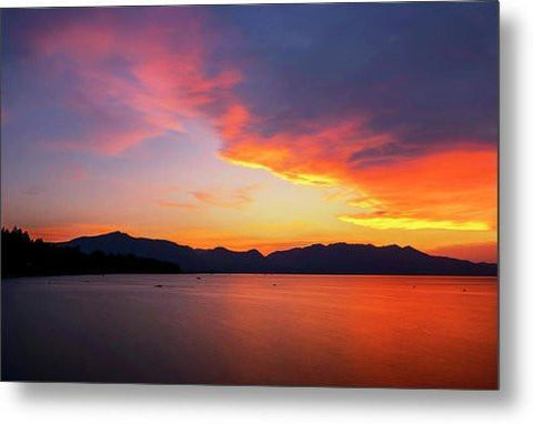Tallac On Fire - Metal Print