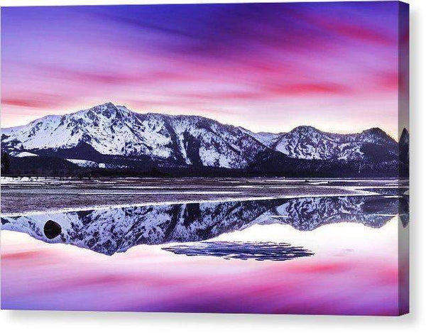 "Tallac Reflections, Lake Tahoe - Canvas Print-10.000"" x 6.750""-Lake Tahoe Prints"