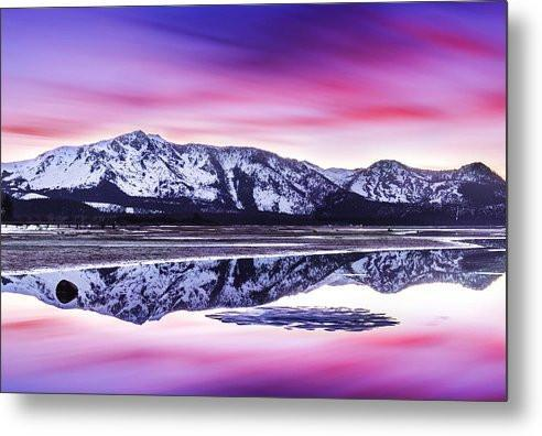 Tallac Reflections, Lake Tahoe - Metal Print