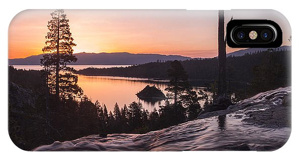 Tangerine Sunrise - Phone Case-Phone Case-IPhone X Case-Lake Tahoe Prints