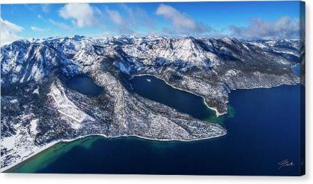 "The Gem Of The Sierra by Brad Scott - Limited Edition - Canvas Print-24.000"" x 12.000""-Lake Tahoe Prints"