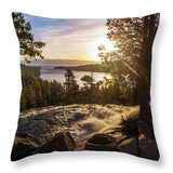 The Heart Of Eagle Falls By Brad Scott - Throw Pillow