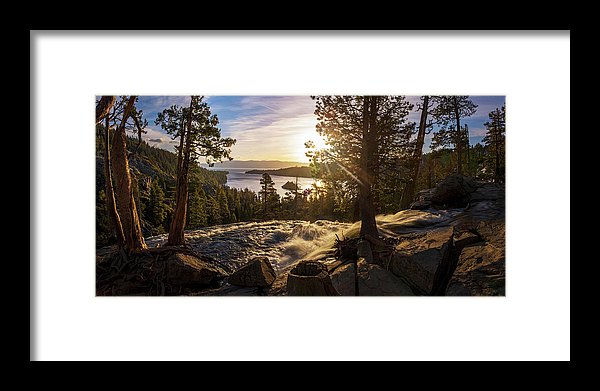 The Heart Of Eagle Falls By Brad Scott - Framed Print