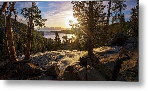 The Heart Of Eagle Falls By Brad Scott - Metal Print