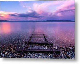 Tracks To Tahoe by Brad Scott - Metal Print-Metal Print-Lake Tahoe Prints