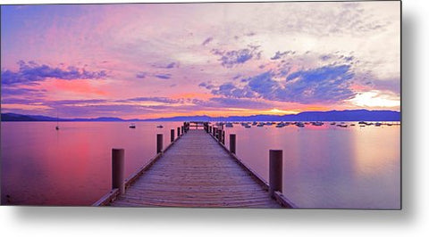 Valhalla Pier Sunrise By Brad Scott - Metal Print