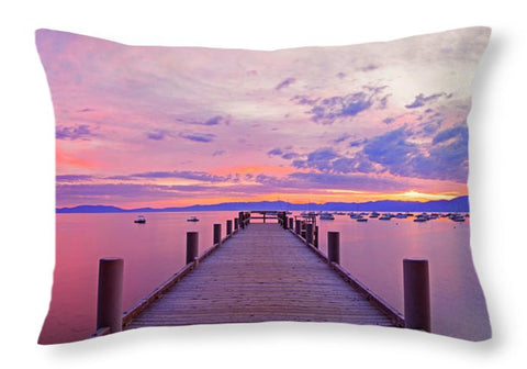 Valhalla Pier Sunrise By Brad Scott - Throw Pillow