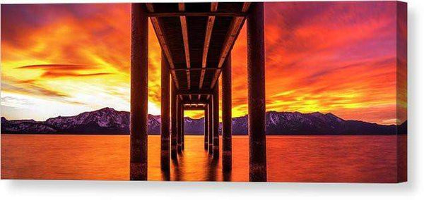 "Window Of Perfection - Canvas Print-16.000"" x 6.250""-Lake Tahoe Prints"