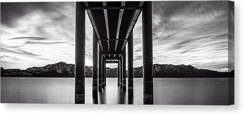 Window Of Perfection Monochromatic by Brad Scott - Canvas Print
