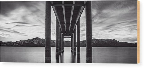Window Of Perfection Monochromatic by Brad Scott - Wood Print