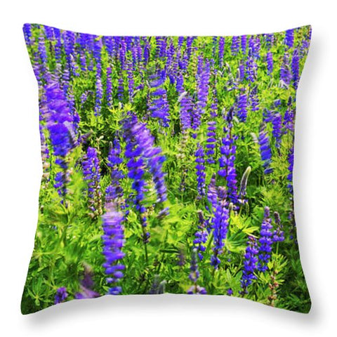 Windy Lupines By Brad Scott - Throw Pillow