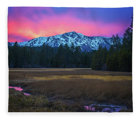 Winter Meadow By Brad Scott - Blanket