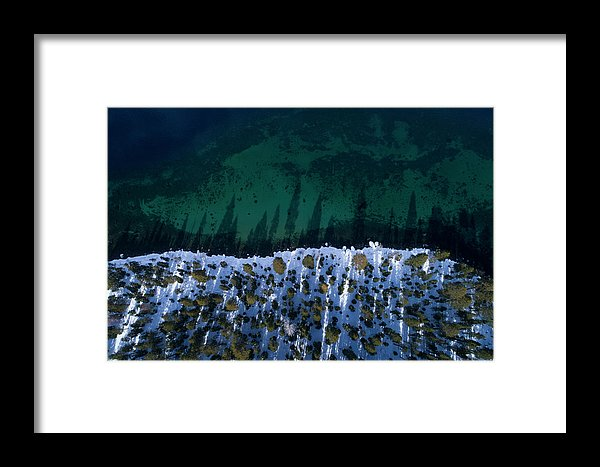 Winter Shores Aerial - Framed Print