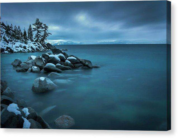 "Winter Storm By Brad Scott - Canvas Print-12.000"" x 8.000""-Lake Tahoe Prints"