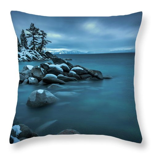 Winter Storm By Brad Scott - Throw Pillow-Lake Tahoe Prints