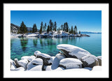 Winter Wave - Sand Harbor Lake Tahoe By Brad Scott - Framed Print