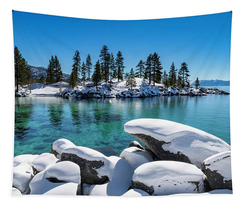 Winter Wave - Sand Harbor Lake Tahoe By Brad Scott - Tapestry
