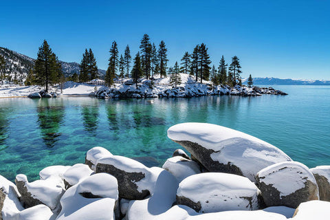 Winter Wave - Sand Harbor Lake Tahoe By Brad Scott - Art Print
