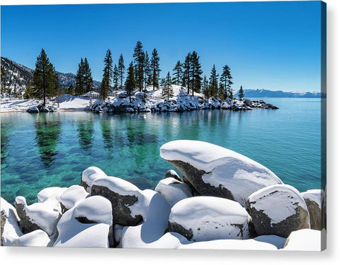 Winter Wave - Sand Harbor Lake Tahoe By Brad Scott - Acrylic Print
