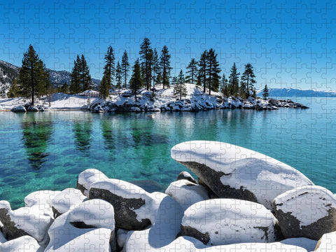 Winter Wave - Sand Harbor Lake Tahoe by Brad Scott - Puzzle