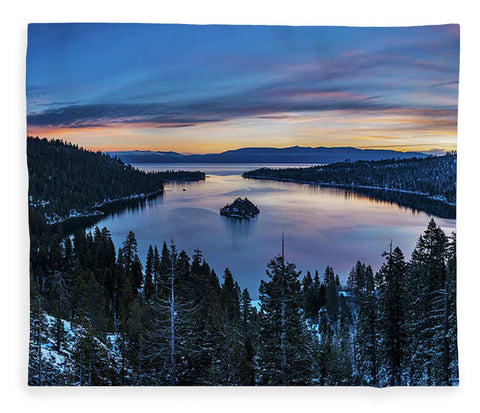 Winters Awakening - Emerald Bay By Brad Scott - Blanket