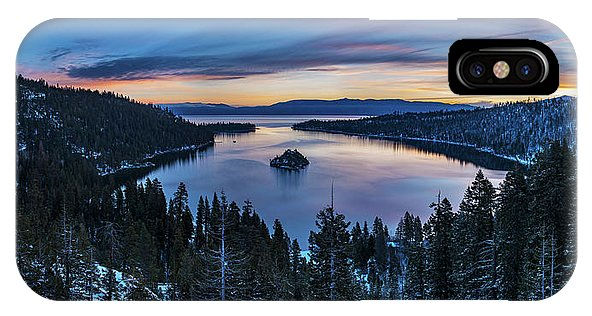 Winters Awakening - Emerald Bay By Brad Scott - Phone Case-Phone Case-IPhone X Case-Lake Tahoe Prints
