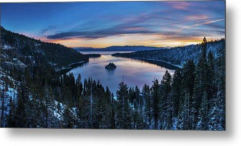 Winters Awakening - Emerald Bay By Brad Scott - Metal Print-Lake Tahoe Prints