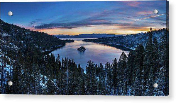 Winters Awakening - Emerald Bay By Brad Scott - Acrylic Print