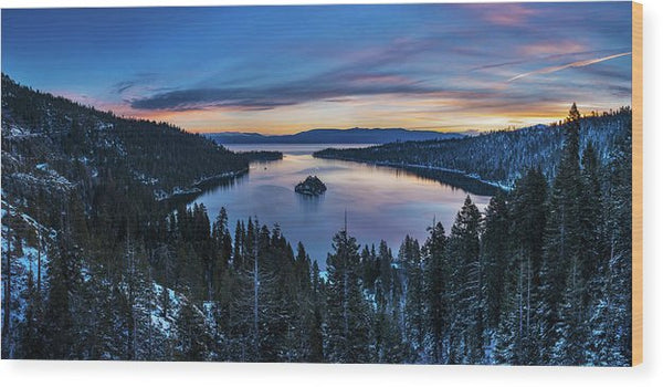 Winters Awakening - Emerald Bay By Brad Scott - Wood Print
