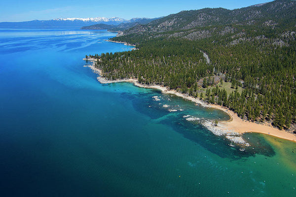 Zephyr Cove To Cave Rock Aerial - Art Print