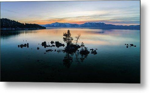 Zephyr Cove Tree Island By Brad Scott - Metal Print-Lake Tahoe Prints